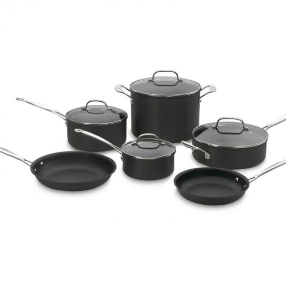 Chef's Classic™ Nonstick Hard Anodized 10 Piece Set
