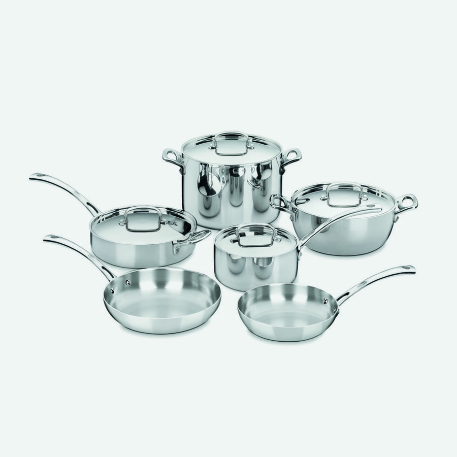 French Classic Tri-Ply Stainless Cookware 10 Piece Set