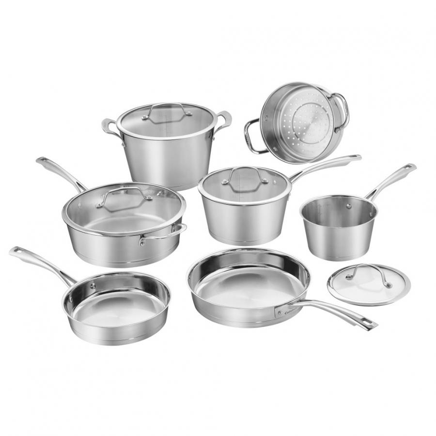 Chef's Classic™ Stainless 11 Piece Conical Stainless Steel Induction Set