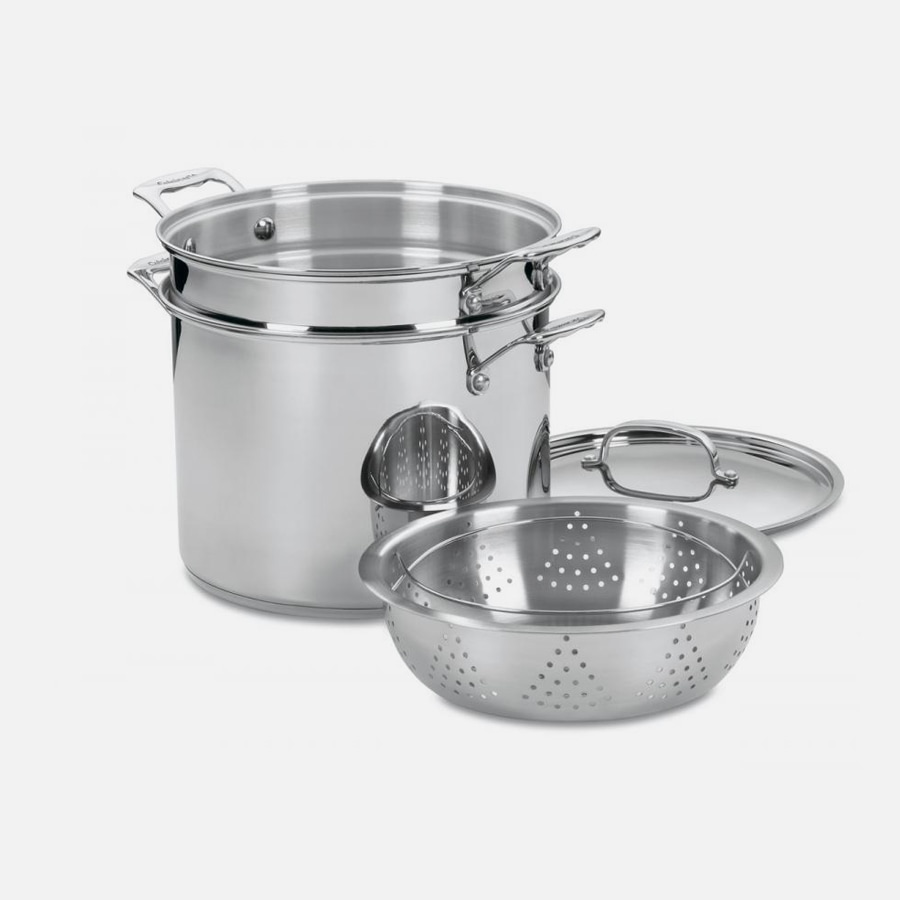 Chef's Classic™ Stainless 12 Quart Chef's Classic™ Stainless Pasta/Steamer 4 Piece Set