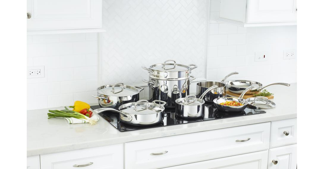 French Classic Tri-Ply Stainless Cookware 13 Piece Set