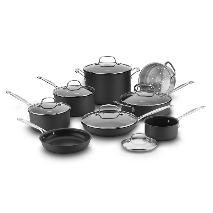 Chef's Classic™ Nonstick Hard Anodized 14 Piece Set