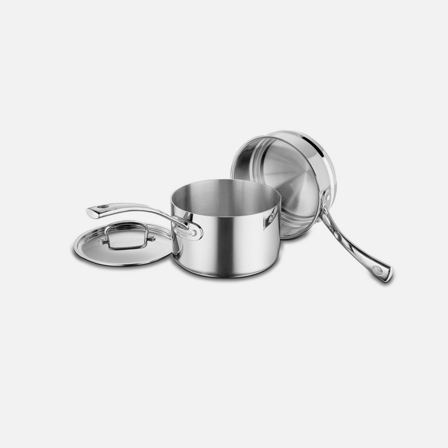 French Classic Tri-Ply Stainless Cookware 3 Piece French Classic Tri-Ply Stainless Double Boiler Set