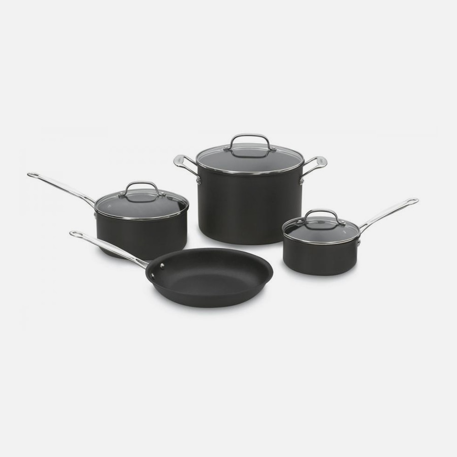 Chef's Classic™ Nonstick Hard Anodized 7 Piece Set