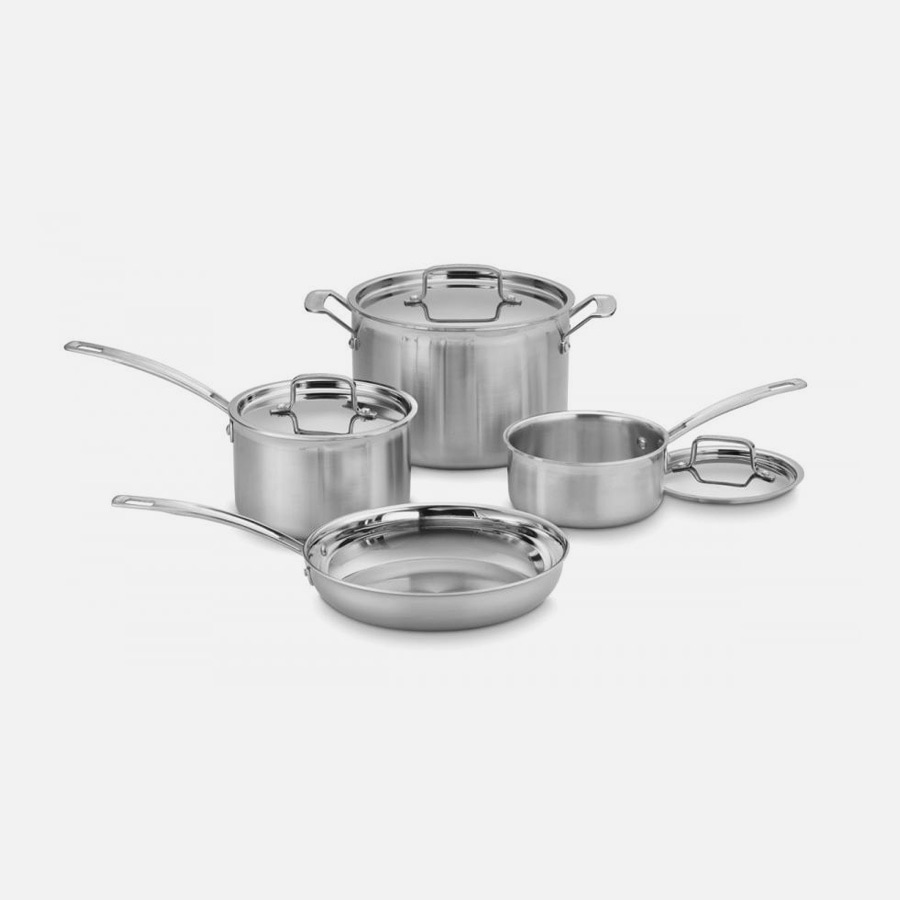 MultiClad Pro Triple Ply Stainless Cookware 7 Piece Set