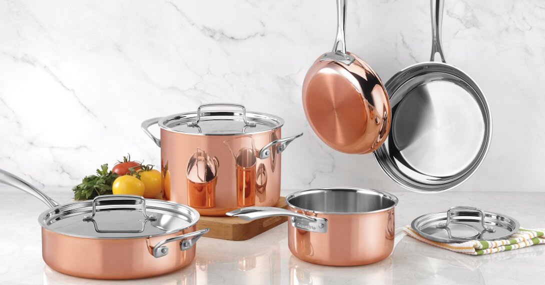 Copper Collection Tri-Ply Cookware 8 Piece Copper Tri-Ply Cookware Set