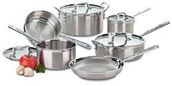10 Piece MultiClad Stainless Cookware Set