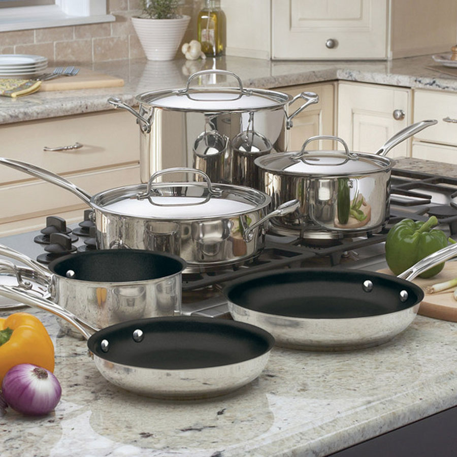 Chef's Classic™ Nonstick Stainless 10 Piece Set