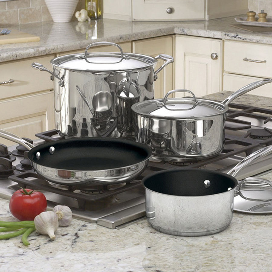 Chef's Classic™ Nonstick Stainless 7 Piece Set